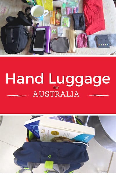 How To Pack Hand Luggage For Long Flight To Australia