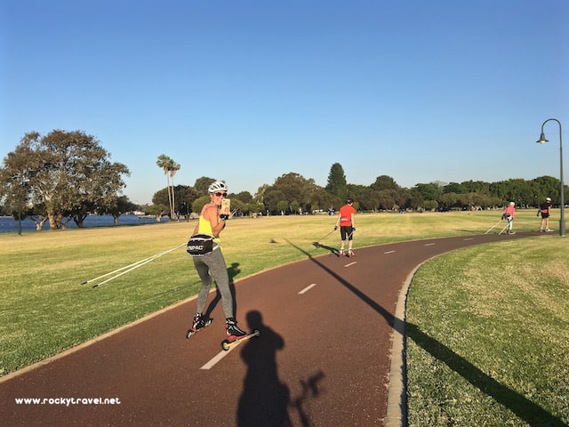 Aerobic Workouts in South Perth Foreshore Park
