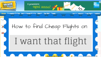 Finding cheap flights on I want that flight