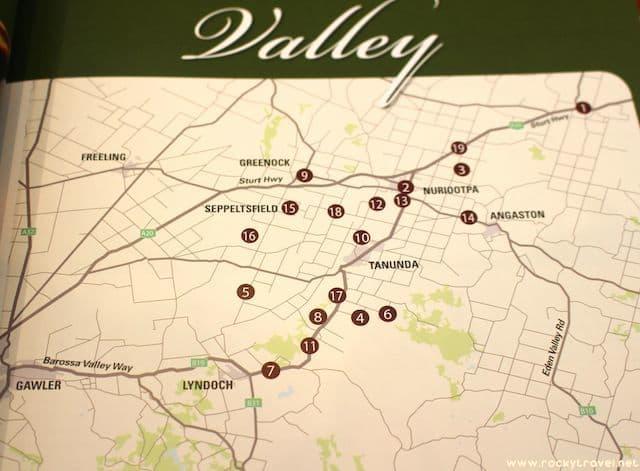 Barossa Valley Map