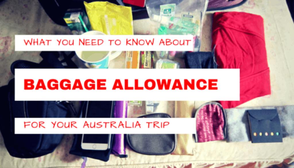 Baggage Allowance Australia