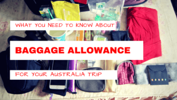 What you need to know about baggage allowance for Australia