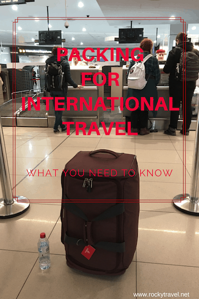 A Guide about Packing for International Travel