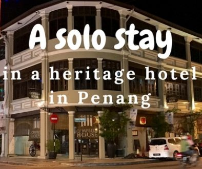 A solo stay in a heritage hotel in Penang