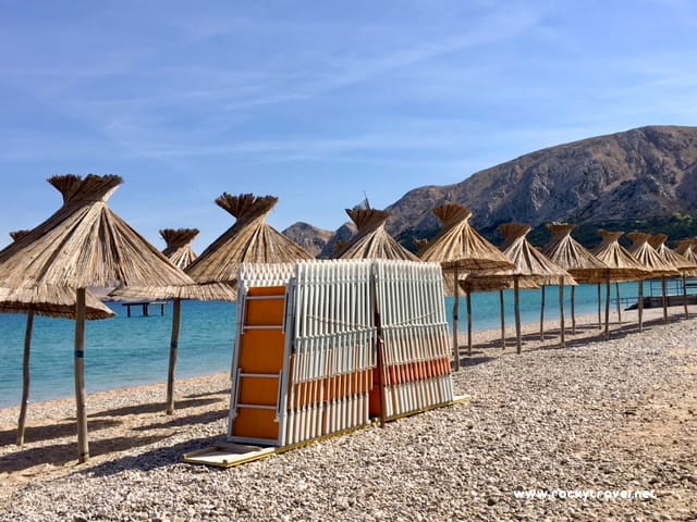 The Beach in Baska Krk Island