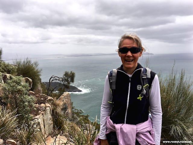 Michela - Grassy Point on the Fluted Cape Walk Bruny Island Tasmania