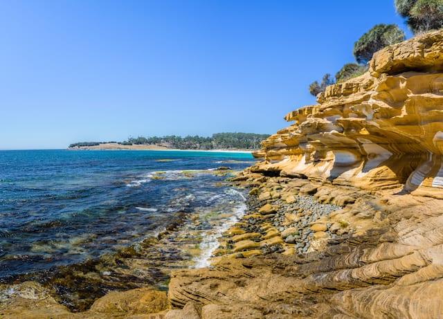 Painted Cliffs Walk on Maria Island Tasmania