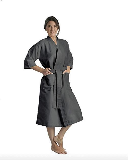 Chamois Microfiber Kimono Hotel Robe on Amazon