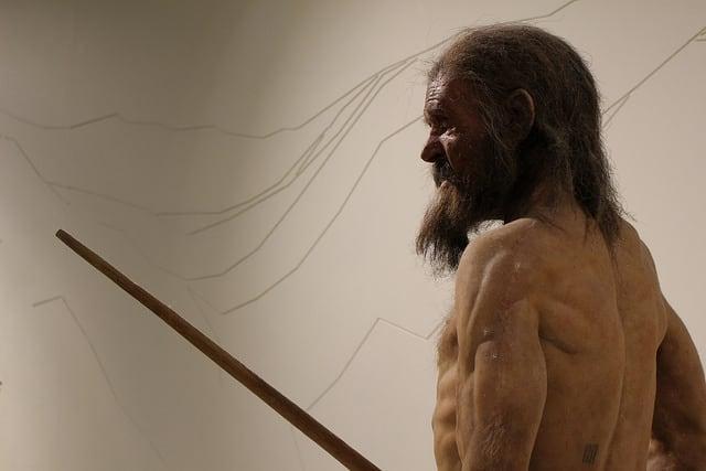 Otzi Iceman Museum of Archeology in Bolzano Italy