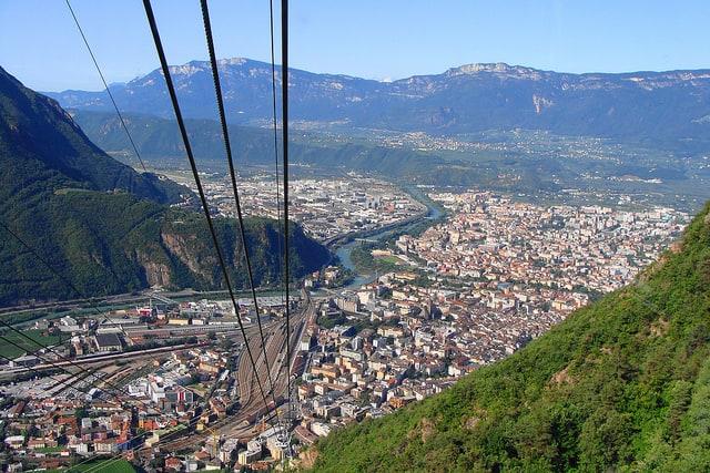 View of Bolzano Cable Car Soprabolzano