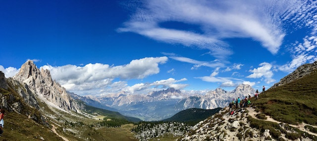 A short day-hike in the Dolomites