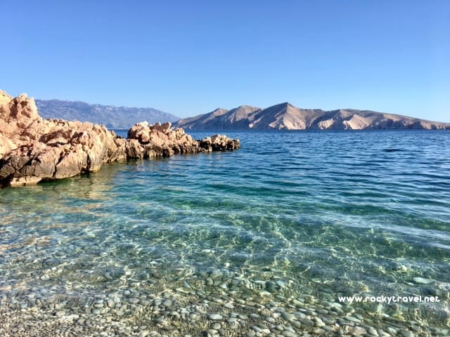 Crystal clear waters Baska Beaches Krk Island