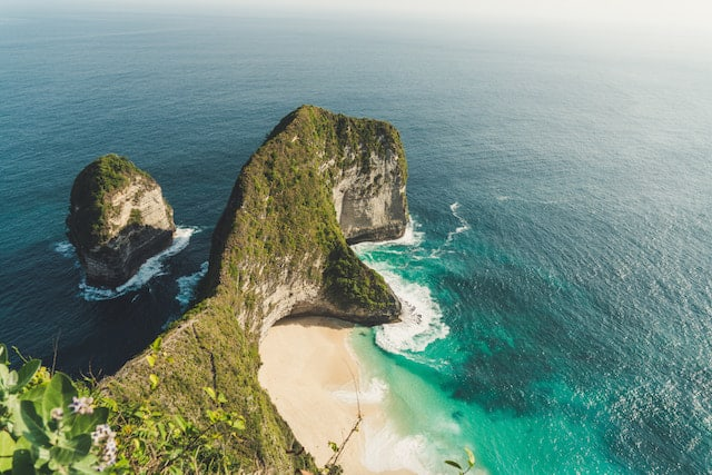 View of Nusa Penida in Bali