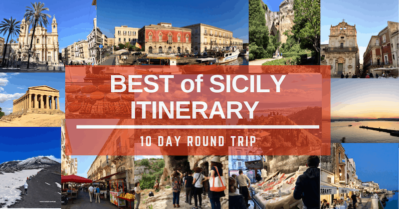 A 10 Day Sicily Itinerary on a round trip.