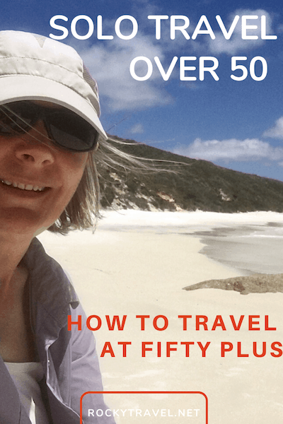 If you are female over 50, here are some great tips and ways on how to break free and solo. It's never too late to start travelling solo, no matter how and what type of travels. Here you see options to combine solo adventures with group travel and beyond. #over50 #fiftyplus #femaletravel #solotravel #traveltips